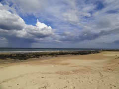 108. St Combs Beach (GraynKirst) Tags: sea sky cloud beach water rock clouds landscape coast seaside sand rocks aberdeenshire horizon shoreline bluesky coastal shore northsea coastline stcombs grahamjarman
