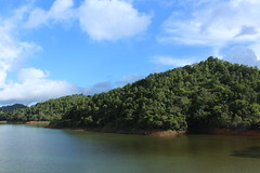 Almost Paradise (jayleeflores) Tags: sky lake clouds lago puertorico outdoor hill paisaje carite