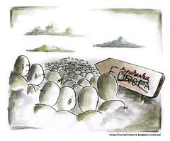 Esperanza (Nuria Domínguez) Tags: people art hope europa arte gente drawing refugees running run personas syria dibujo ilustration esperanza siria marcha ilustración refugiados huir
