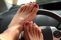 Mamba (IPMT) Tags: red west color sexy feet crimson club foot blood rojo toes painted nine polish vermelho barefoot barefeet pedicure carnation toenails ocre mamba toenail oxblood pedi descalza