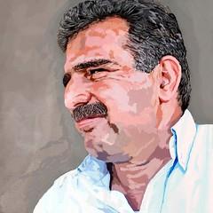 M portrait paint  V1 3 (roger-evans) Tags: portrait digital friend paint crete stalis
