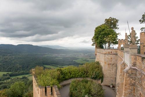 Vue sur la Forêt-Noire depuis le château de Hohenzollern (alt. 855 m)