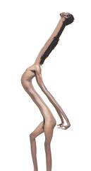 variations on a theme (Jayson Edward Carter) Tags: brown man black male strange digital photoshop nude photography skin body scanner alien manipulation stretch creepy clean odd virtual figure extension stark alter transform poc scanography jaysoncarter jaysonedwardcarter