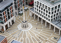 Paternoster Square (Garrett Rock) Tags: plaza city uk greatbritain england urban london weather thames clouds buildings court square construction commerce view cloudy britain stpauls courtyard september business observatory vista churchyard wren christopherwren stpaulscathedral overlook riverthames banking cityoflondon finance vantagepoint centrallondon lowrise churchofengland paternostersquare sirchristopherwren toppoint thamesrivermarchitecture