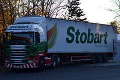 Stobart H8342 PY63 HWU Donya Korene at Smyths Toys Wallsend 26/10/15 (CraigPatrick24) Tags: road truck cab transport lorry delivery vehicle trailer scania logistics wallsend stobart eddiestobart smythstoys stobartgroup scaniar440 walkingfloor h8342 py63hwu donyakorene stobartrenewableenergy smythstoyswallsend