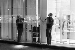Window Dressing (David Allan Barker) Tags: city night shopping blackwhite streetphotography consumerism bloorstreet