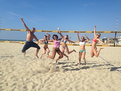 Girls Group Jumping Funny