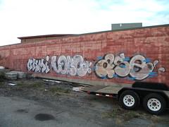Ohmi / Lobs / Ase (Randall 667) Tags: street urban art island graffiti artist exploring providence crew writers taggers rhode outcast gdc ohmy ase lobs