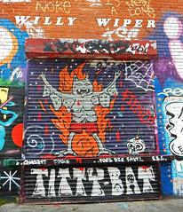 Titty Bat ! (Antropoturista) Tags: uk orange streetart liverpool graffiti naranja oranje tittybat