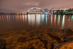 Waters of the Kill Van Kull (sullivan1985) Tags: bridge night newjersey nj bayonne bayonnebridge killvankull