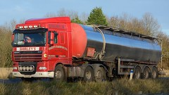 ST13 GVT (panmanstan) Tags: road england truck wagon motorway yorkshire transport lorry commercial newport vehicle freight tanker m62 daf xf haulage hgv