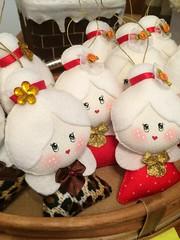Mamãe Noel (Pina & Ju) Tags: christmas natal navidad handmade artesanato gingerbread ornaments feltro patchwork papainoel árvore decoração rena duende tecido enfeite elfo mamãenoel bolachinha