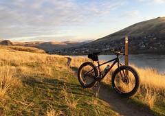 Sunset Fat Biking @ Hells Gate (Doug Goodenough) Tags: bicycle bike cycle ride pedals spokes idaho trek farley 5 fatbike fat 2015 15 hells gate park snake river asotin drg53115 drg53115p drg53115pfarley drg531