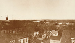 Panorama from Rooftop, Past Courthouse To River