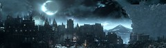 Irithyll of the Boreal Valley (ConnecteD\_) Tags: dark souls iii mountains moon screenshot panoramic panorama castle city