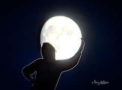 Moon On My Shoulders Makes Me Happy (Terry Aldhizer) Tags: moon person shoulders night sister cradle woman shadow lights silhouette terry aldhizer wwwterryaldhzercom