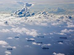 ships in sky