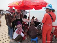 Shade in the Crab Market - Kep Cambodia (WanderingPhotosPJB) Tags: cambodia kep crabmarket umbrella