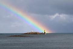 Aprs la pluie (anna.rln) Tags: arcenciel sea mer balise rainbow roscoff bretagne