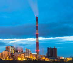 Nature is speaking (Sakuto) Tags: citi sky clouds night industrial smoke smog pollution light lightpollution landscape poznan poland knowhow