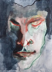 Perseus' Pursuit [20160914]-2 (rodneyvdb) Tags: abstracted acrylic art contemporary contemporaryart drawing expression expressionism eyes face figurative painting pastel portrait sketch surreal surrealism visage