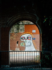 Under the Bridge. Ladywell Fields. London (Micha Olszewski) Tags: landstructures ladywellfields ladywell england bridge land london unitedkingdom civilengineering greaterlondon graffiti streetart europe mural art