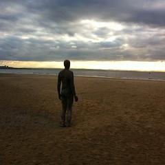(rileyo) Tags: liverpool england uk beach crosbycoastalpark anthonygormley clouds sculpture