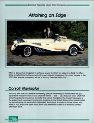 1991 Corsair Navigator (aldenjewell) Tags: 1991 corsair navigator roaring twenties motor car co addison illinois brochure