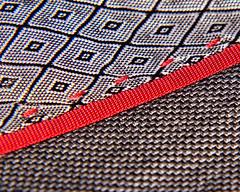 Macro Mondays Stitch - DSC01960P1 (Scott Glenn) Tags: macromonday stitch red black gray fabric thread closeup macro 4filter macromondays