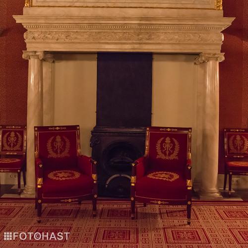 Zitje in een van de kamers in het paleis.