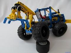 06e (nikolyakov) Tags: lego legotechnic eurobricks pneumatic logging skidder moc tc10