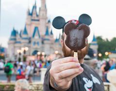 Mickey wannabe (Mrsbridges2013) Tags: sonya7rii dusk focus chocolate icecream ears magic bokeh castle mickeymouse mickey disney faceless sony