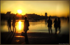 Wish you where here.... (michel di Méglio) Tags: yellow marseille sunset olympus zuiko photoshop blur