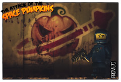 Halloween is coming! (Priovit70) Tags: lego minifigures classicspace benny gun halloween spacepumpkins olympuspenepl7