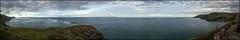 Torr Head Panorama (Donald Noble) Tags: antrim hdr ireland northernireland rathlinisland clouds coast coastline headland panorama sea sky turbulence water