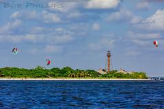 Sanibel Island (tropicdiver) Tags: sanibelisland beach lighthouse palmtrees windsurfers