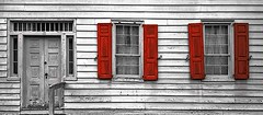 Shutters (manx_20) Tags: windows closup shutters red old abadoned door window house