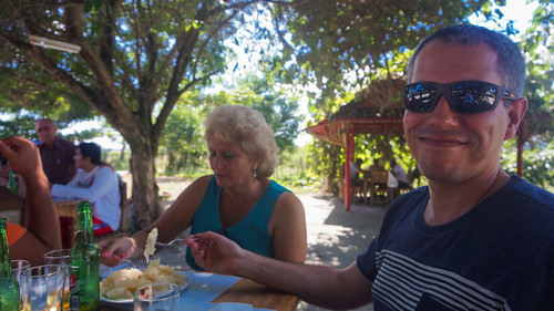 Family lunch at La Campana village, middle of countryside in Cienfuegos, near the coast.