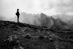 (elsvo) Tags: selfportrait grancanaria fog clouds intheclouds canaryislands me self portrait silhouet sky nature