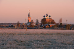 Warm Glow on Annunciation Monastery on Cold Autumn Morning, Dunilovo (nsapronov) Tags: churches autumn tezariver cathdral sunrise russia ivanovoregion dunilovo frosts russianorthodox annunciation teza fall hoarfrosts river monastery belltower nature glow october frost ivanovooblast     ivanovskayaoblast ru