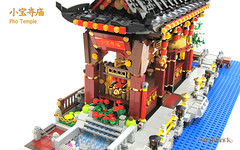 Chinese Temple (StormBrick) Tags: lego moc building temple shrine chinese riverside modular