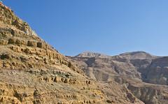 Wste / Desert # 4 (schreibtnix) Tags: reisen travelling jordanien jordan landschaft landscape wste desert berge mountains felsen rocks himmel sky blau blue olympuse5 schreibtnix