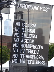 (kristen mckeithan) Tags: world park new york music ny tower festival brooklyn concert no sunday august center barry commodore trade racism 23rd homophobia 2015 afropunk transphobia ageism fatphobia hatefulness ableism afropunk2015