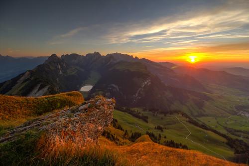 """Sunset at """"Hoher Kasten"""", Altstätten"""