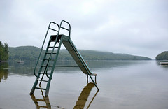 slide in (Mr.  Mark) Tags: lake nature water childhood photo play stock dream slide calm minimal memory markboucher