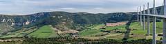 Millau viaduct panorama (bobpado) Tags: panorama france nature architecture canon landscape paysage tarn millau viaduc aveyron midipyrnes viaducdemillau midipyrnnes canon6d canonef70300f456lisusm