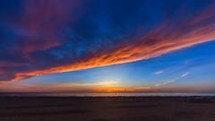 Coucher Soleil - Berck (Pas de Calais - 62) (zanguyo) Tags: sunset sea sky cloud mer nature water night landscape soleil outdoor coucher nuit plage calme extremesky