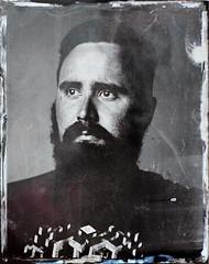 Krouton (Vincent Paulic) Tags: portrait wet studio plate retro tintype 4x5 ferrotype humide collodion