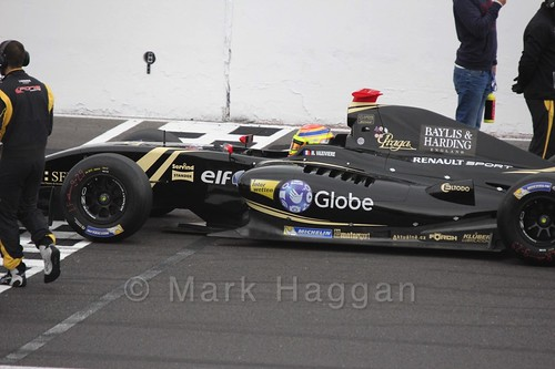 Matthieu Vaxiviere on the Grid for the Formula Renault 3.5 Saturday Race at Silverstone