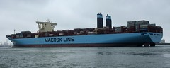 Margrethe Maersk (IndiaEcho Ships) Tags: sea water netherlands port canon eos boat dock rotterdam ship harbour craft vessel container maasvlakte margrethe maersk 1000d